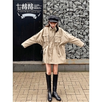 七格格风衣女中长款小个子上衣2019新款秋季长袖宽松气质薄外套潮