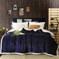 家纺2017秋冬款棉被子加厚毛绒毛毯冬季保暖毯子床盖床尾盖毯灰色粉红色宝蓝色咖色双人