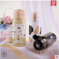 卡通弹盖旅行杯小巧创意个性水杯保温杯女便携迷你可爱杯子韩版文艺学生