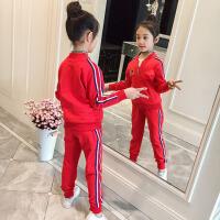 儿童休闲运动服小女孩春秋洋气两件套女童套装春装