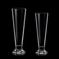 ��意果汁杯玻璃��性V型啤酒杯�料杯子