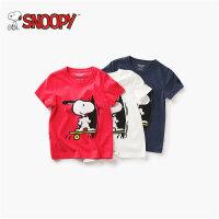 snoopy史努比童装儿童夏装男童短袖t恤2018新款纯棉韩版宝宝半袖
