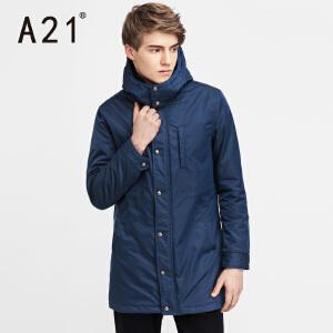 以纯A21冬季外套男中长款男士棉衣青年加厚棉服保暖棉袄休闲上衣潮