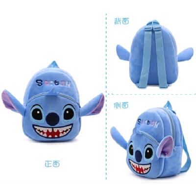 儿童卡通毛绒玩具双肩小书包2幼儿园1-3岁宝宝男女孩迷你背包礼物