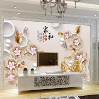 5d壁画电视背景墙壁纸卧室3d墙纸现代简约无纺布影视墙布装饰客厅 墙纸+胶水