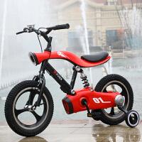 儿童自行车儿童礼品自行车男孩女孩12 14 16寸儿童脚踏单车3-5岁公主女男童 12寸红色+锂电充电灯光 铝合金一体轮