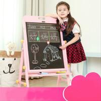 儿童实木画板画架双面磁性小黑板支架式家用可升降白板画画写字板