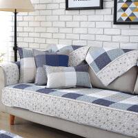 家纺2017秋冬季新款全棉田园沙发垫布艺沙发巾皮通用坐垫格子组合沙发套