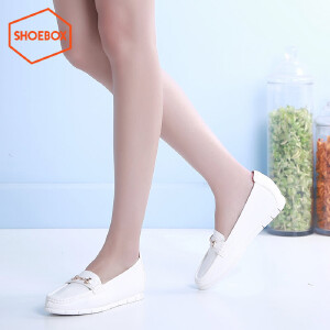 达芙妮旗下SHOEBOX/鞋柜春季休闲平底低跟女鞋子