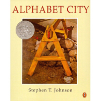 美国进口1996年凯迪克银奖绘本 Alphabet City 城市ABC平装想象力训练思维拓展城市字母学习2-6岁宝宝