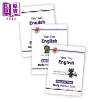【中商原版】CGP New KS1 English Daily Practice Book 每日英语练习套装 2年级 单