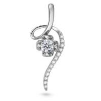 先恩尼钻石 白18K金钻石项链/吊坠女款 结婚订婚礼物花漾柔情HFGCDZ284