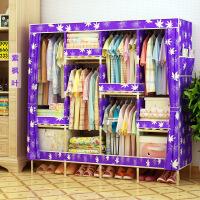 【支持礼品卡】牛津布简易衣柜加粗实木衣柜布衣柜折叠布衣橱1.7C升级款 f4u