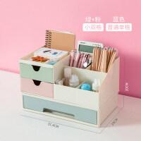 多功能笔筒创意时尚韩版学生小清新少女心桌面摆件文具盒变形化妆刷收纳盒
