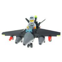儿童玩具模型早教益智积木拆装建构拼插男孩生日礼物黑鹰飞机