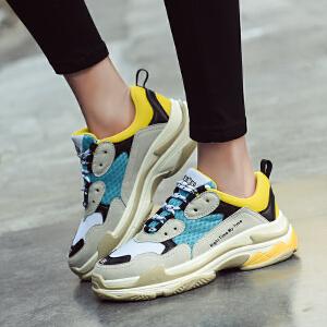 【官方正品 品牌直营】ins超火的鞋子韩版百搭单鞋ulzzang运动鞋女复古新款老爹鞋女