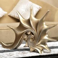欧式复古创意海螺装饰家居家装饰品工艺品玄关客厅电视柜摆件摆设 海螺摆件