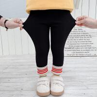 女童加绒打底裤子小童新款冬季时髦洋气1岁女宝宝3秋冬装
