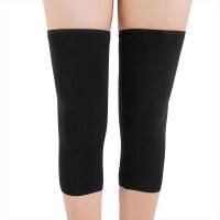 冬季护膝保暖老寒腿女士膝盖关节无痕月子产后加绒加厚夏季空调房 黑色 均码