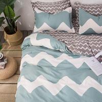 活性棉磨毛四件套棉家纺 床上用品宿舍三4件套1.8米1.5M