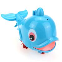 洗澡戏水玩具 喷水小海豚 宝宝拉线水陆两用鲸鱼美人鱼漂浮玩具