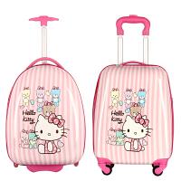 卡通儿童拉杆箱宝小孩行李箱学生登机拖箱万向轮18寸旅行箱 18寸 方形 万向轮