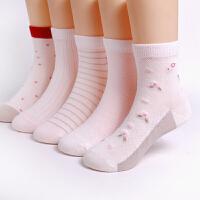 女童袜子薄款女孩夏季中筒儿童中大童短袜