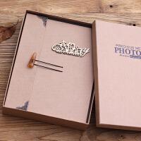 相册diy手工制作粘贴式影集创意情侣浪漫纪念册本照片礼物拍立得 +蜡纸