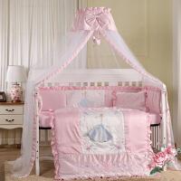 ????婴儿床品套件全纯棉新生宝宝床上用品儿童防撞床围三四七件套公主