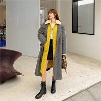 七格格韩版宽松中长款冬季外套女2019新款学生轻薄时尚棉衣潮