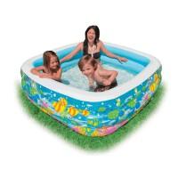 满百包邮INTEX水族馆充气戏水池 家庭游泳池 海洋球池 浴池沙池