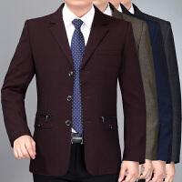 秋款中年男士休闲西服外套爸爸装西装外套男商务便西单西男上衣新