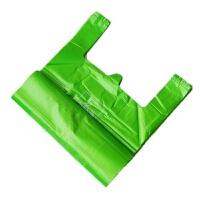 加厚厨房专用垃圾袋厨余分类绿色社区发放手提环保背心家用蓝灰 绿色厨余手提 45x70cm 100只 加厚