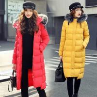 冬装外套女新款韩版中长款直筒加厚防寒服女士棉衣小棉袄