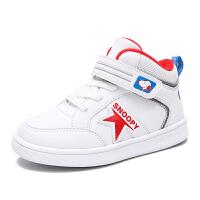 史努比男童鞋冬季新款儿童百搭小白鞋宝宝休闲鞋板鞋防滑