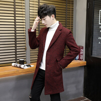 毛呢大衣男士外套韩版修身秋冬季中长款风衣青年潮流男装新款