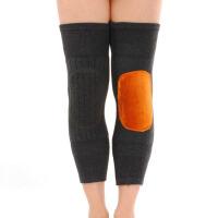 羊绒护膝保暖老寒腿 膝盖加厚加绒羊毛护膝毛线护腿金黄绒护膝