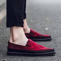 男士帆布鞋个性韩版休闲鞋防臭软底老北京布鞋夏天一脚蹬懒人男鞋
