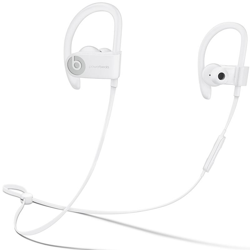 【当当自营】Beats Powerbeats3 by Dr. Dre Wireless 无线蓝牙 运动耳机 入耳式耳机-白色 ML8W2PA/A Beats运动耳挂_运动依旧可以潮流