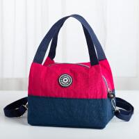 新款尼龙斜跨女包单肩花布包轻便小布包妈妈包便当包多用包买菜包