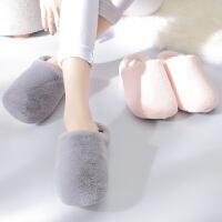 棉拖鞋冬季男女居家室内地板防滑厚底低包跟情侣可爱月子家居拖鞋