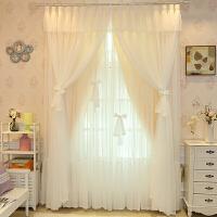 韩式公主蕾丝窗帘女孩卧室房间粉窗纱成品婚房清新儿童房遮光定制