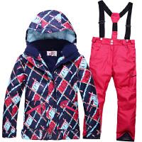 2016新款儿童滑雪服套装女童加厚防水保暖冬季户外运动滑雪服儿童