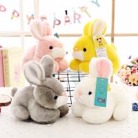 儿童生日礼物女孩小兔子毛绒玩具仿真兔兔公仔白兔布娃娃玩偶