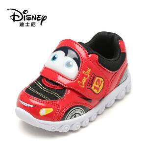 鞋柜/迪士尼春秋卡通男童鞋便利魔术贴儿童灯鞋1