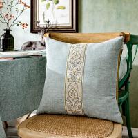 北欧美式中式欧式现代水蓝灰色咖啡红色靠垫靠枕靠背抱枕汽车沙发