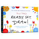 准备开始画画 Ready, Set, Draw! 英文原版 儿童互动创意游戏闪卡 Hervé Tullet 埃尔维杜莱