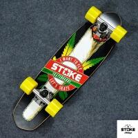 小鱼板香蕉板四轮滑板公路滑板刷街代步单翘滑板 大麻烟 标准