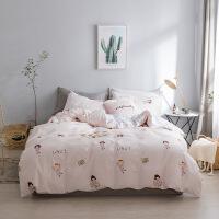 家纺新款北欧风格加厚四件套纯棉 单双人1.5/1.8米床被套全棉床上用品 适合1.5-1.8米床:被套200*230