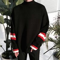 MRCYC 男士套头针织衫毛衣男韩版半高领套头街头嘻哈潮男毛衣外套